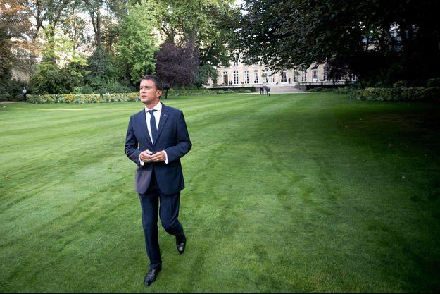 Manuel Valls à Matignon le 19 août.