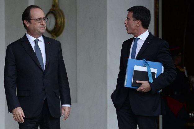 François Hollande et Manuel Valls à l'Elysée, le 28 septembre.