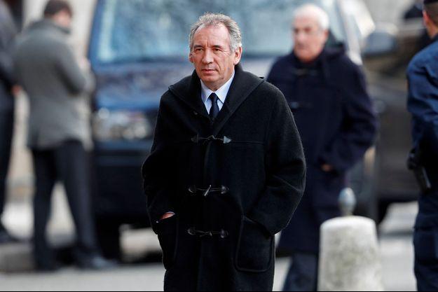 François Bayrou début janvier à Paris.
