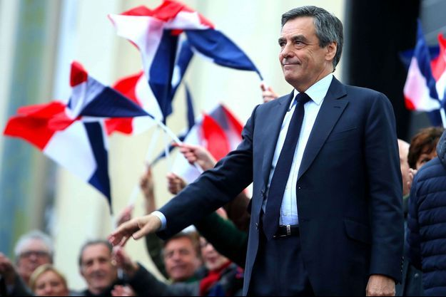 François Fillon lors du meeting du Trocadéro, dimanche.