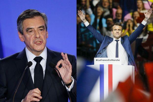 François Fillon et Emmanuel Macron (montage d'illustration)
