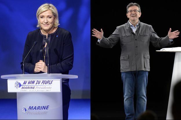 Marine Le Pen, Jean-Luc Mélenchon