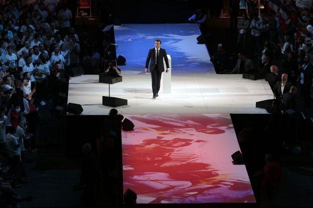 Emmanuel Macron à Bercy le 17 avril.