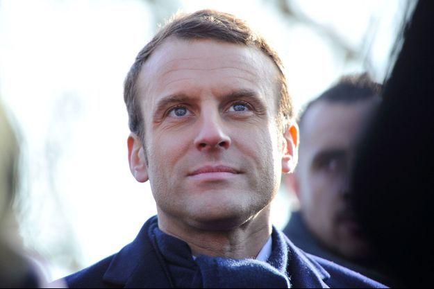 Emmanuel Macron à Montlouis-sur-Loire le 10 février.