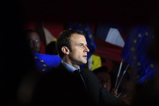 Emmanuel Macron lors de son meeting à Arras, le 26 avril.