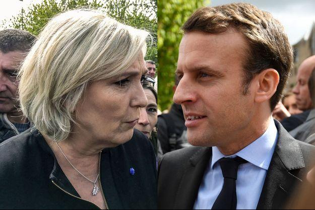 Marine Le Pen et Emmanuel Macron (montage)