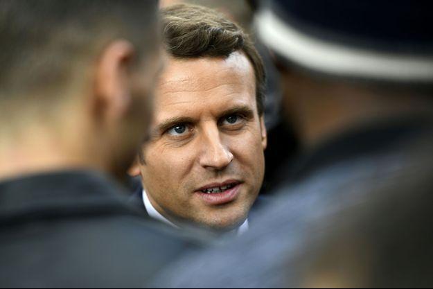 Emmanuel Macron à Sarcelles, jeudi.