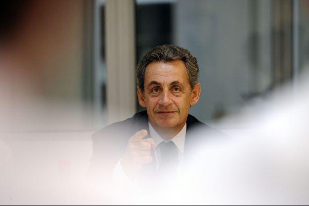 Nicolas Sarkozy à Marcq-en-Baroeul, le 22 septembre. Il y a rencontré des salariés du groupe alimentaire Holder.