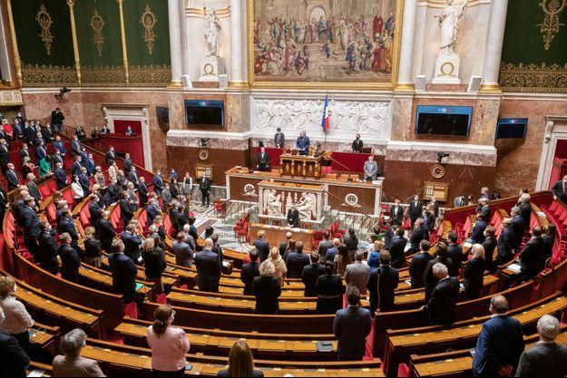 L'enceinte de l'Assemblée nationale, le 11 mai 2021.
