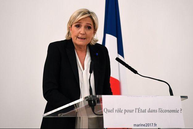 Marine Le Pen à Paris le 2 mars.