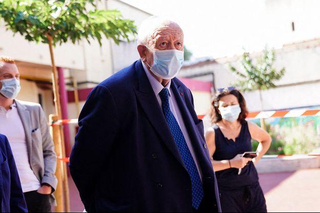 Jean-Claude Gaudin ici à Marseille en juin lors du second tour des Municipales.