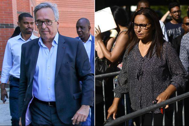le maire d'Evry, Francis Chouat, et la candidate Insoumise, Farida Amrani.
