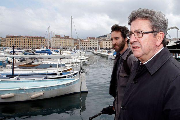 Jean-Luc Mélenchon sur à Marseille, en mai 2017.