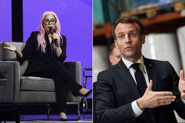 Lady Gaga et Emmanuel Macron