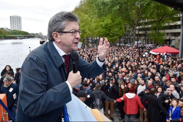 Jean-Luc Mélenchon le 17 avril 2017.