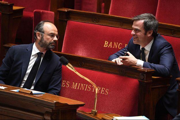 Ici, Edouard Philippe et Olivier Véran à l'Assemblée en avril 2020.