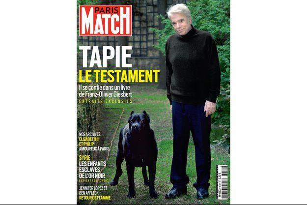 Bernard Tapie en couverture de Paris Match.