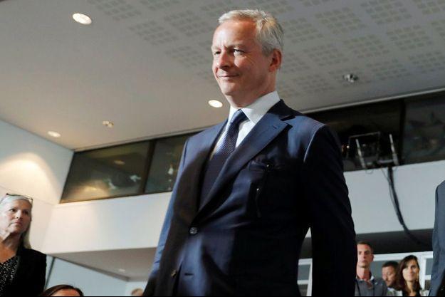 Bruno Le Maire, lundi à Biarritz lors de la conférence de clôture du G7.