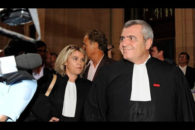 Thierry Herzog, le 30 septembre 2009, pendant le procès Cleairstream.
