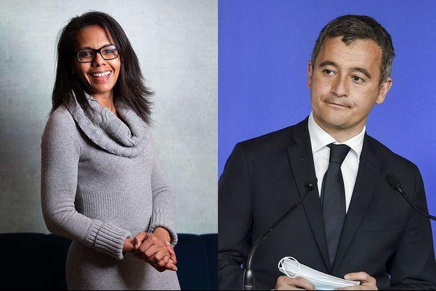 Audrey Pulvar et Gérald Darmanin.