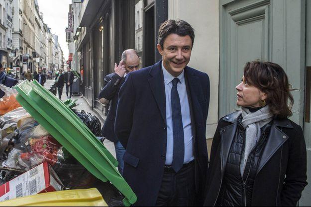 Benjamin Griveaux, mercredi à Paris, présentant ses propositions en matière de propreté pour Paris.