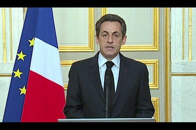 Le discours de Sarkozy après la mort de Mohamed Merah.