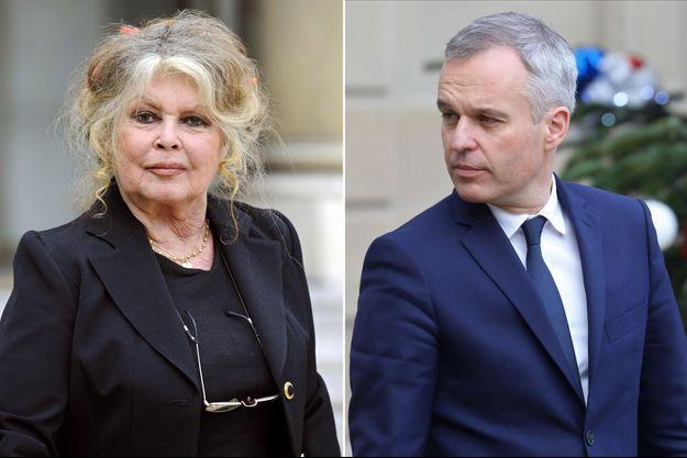 Brigitte Bardot , ici en 2007, et François de Rugy.