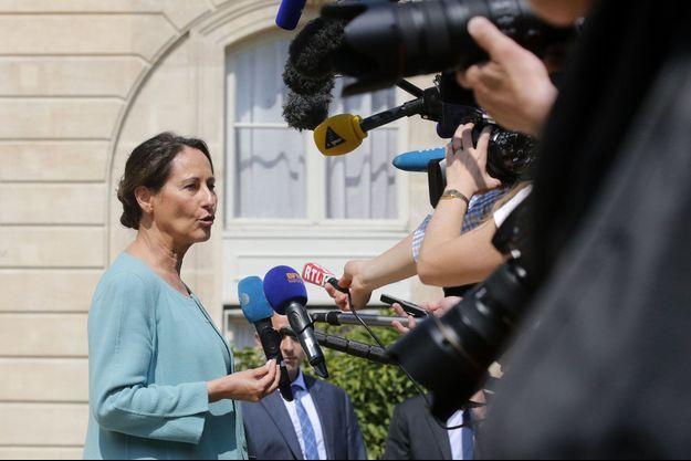 Ségolène Royal, mercredi, à la sortie du Conseil des ministres.