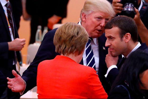 Angela Merkel, Donald Trump, Emmanuel Macron
