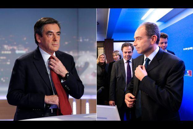 François Fillon au journal de 20 heures sur TF1 le 21 novembre et Jean-François Copé au siège de l'UMP le 19 novembre.