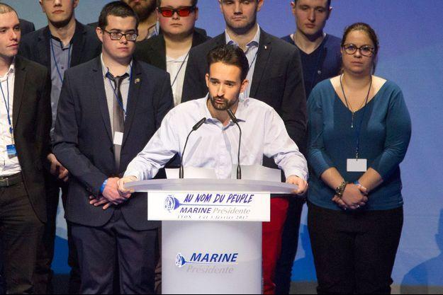 Davy Rodriguez, en discours à Lyon le 4 février 2017