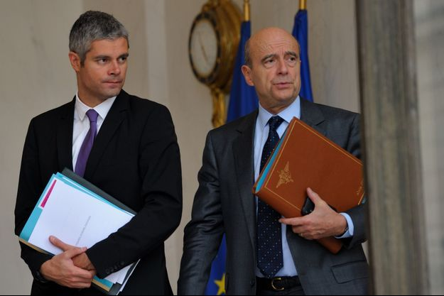 Laurent Wauquiez et Alain Juppé en 2011.