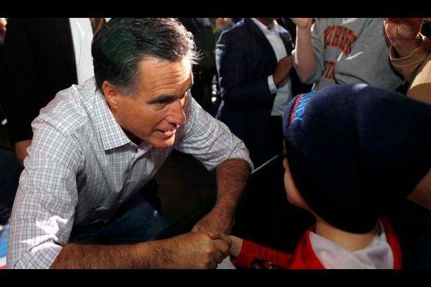 Mitt Romney et un enfant (illustration).