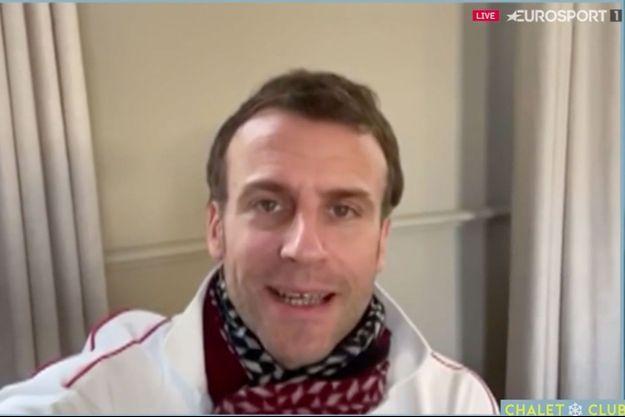 Emmanuel Macron dans son message vidéo pour Alexis Pinturault.
