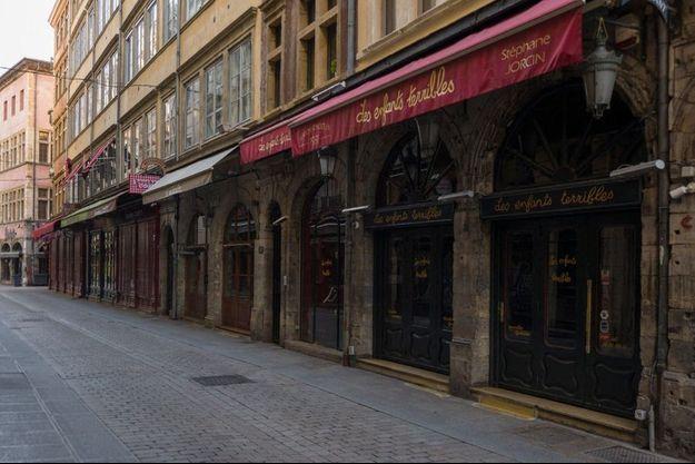 La ville de Lyon désertée.