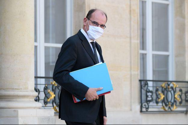 Jean Castex, à l'Elysée, mercredi lors du Conseil des ministres.