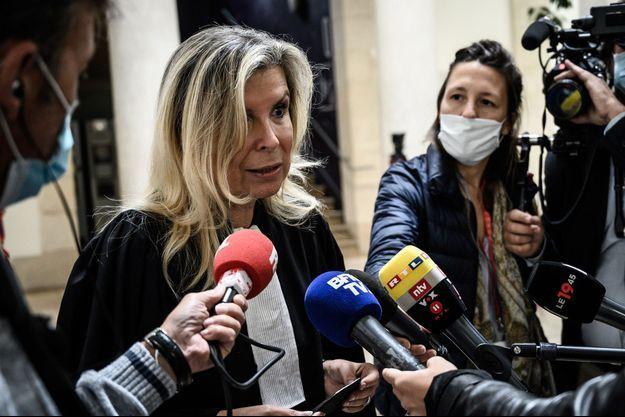 L'avocate Nathalie Tomasini, ici en juin 2021 lors du procès de Valérie Bacot.