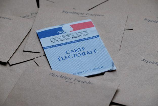 Illustration d'une carte électorale