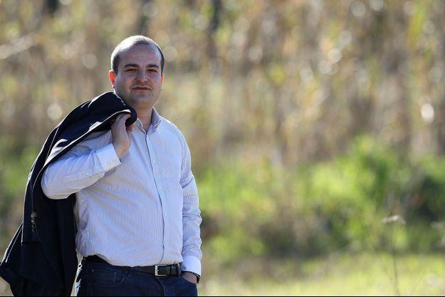 David Rachline en campagne électorale à Fréjus en 2014. Il est actuellement maire de la ville.