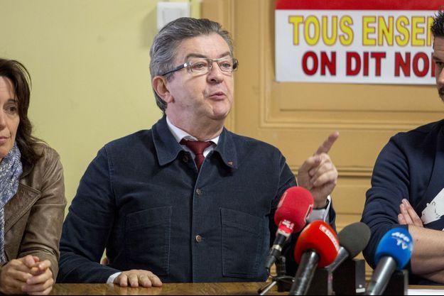 Jean-Luc Mélenchon jeudi en conférence de presse.