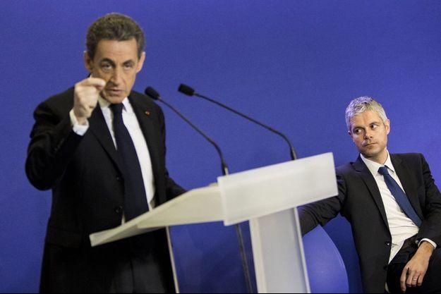 Nicolas Sarkozy et Laurent Wauquiez en mars 2015.