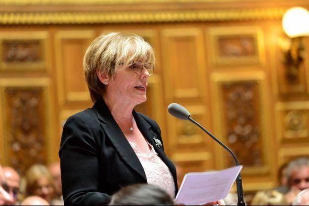 La sénatrice LREM Patricia Schillinger , ici au Sénat en mai 2019.