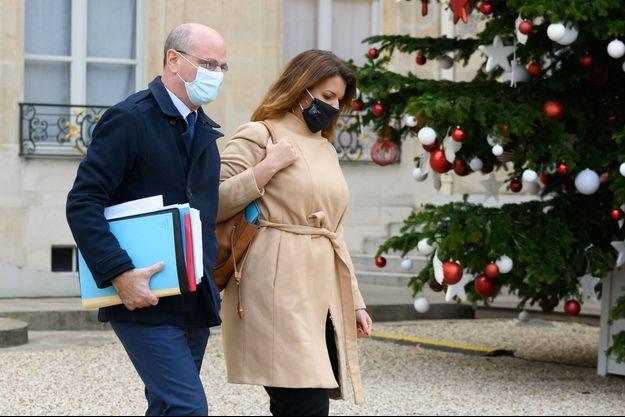 Ici Jean Michel Blanquer et Marlène Schiappa ici à l'Elysée début décembre.