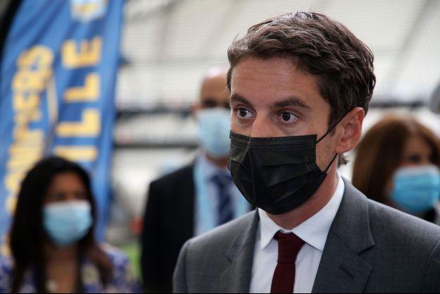 Le porte-parole du gouvernement ici mi-mai au centre de vaccination du Stade Vélodrome à Marseille.