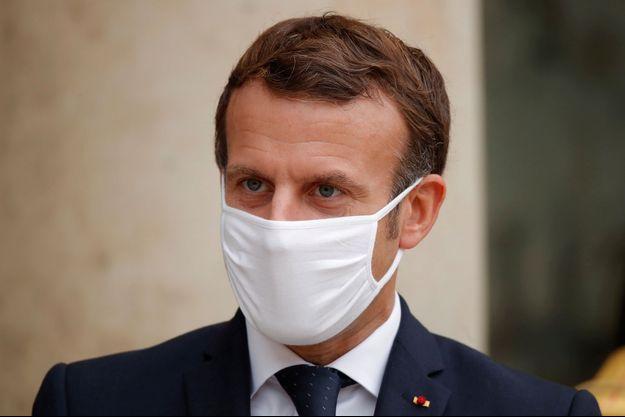 Emmanuel Macron à l'Elysée le 28 octobre 2020.