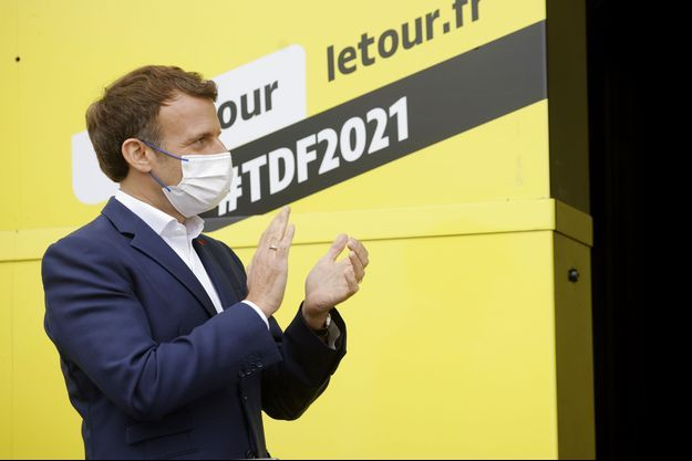 Emmanuel Macron le 15 juillet 2021