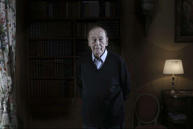 Valéry Giscard d'Estaing chez lui à Paris, en 2017.