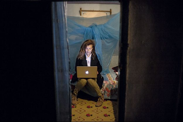 Valérie Trierweiler à l'hôtel Coco d'Ivohibe, lors de son reportage à Madagascar.