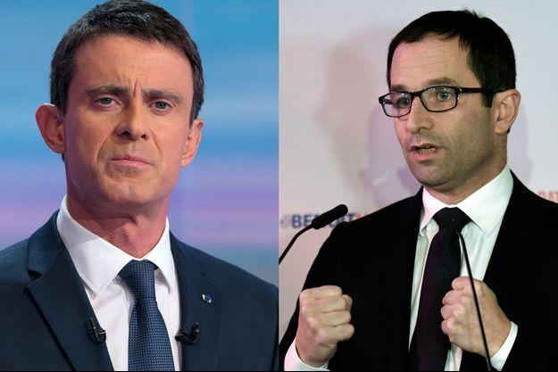 Photomontage de Manuel Valls et Benoît Hamon, janvier 2017