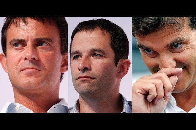 Manuel Valls, Benoît Hamon, Arnaud Montebourd